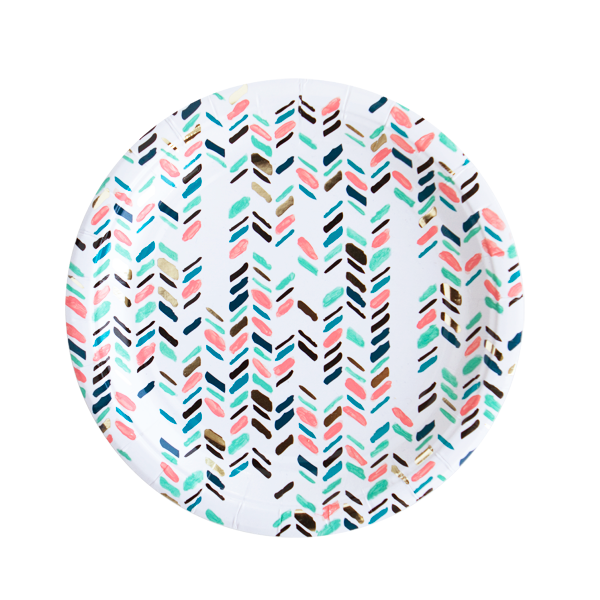 Image of Modern Camp - Modern Chevron Small Party Plates