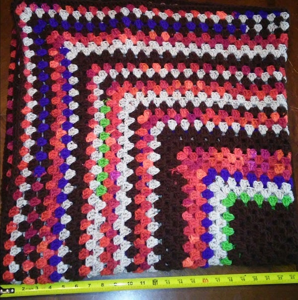 Image of 48 x 48 inch Scrap Granny Square with Bonus