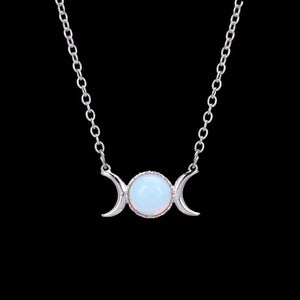 Image of Opalite Triple Goddess Necklace