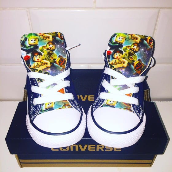 Image of Navy Lego starwars converse