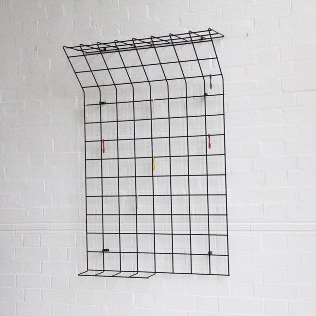 Image of Midcentury geometric coat rack by Karl Fichtel