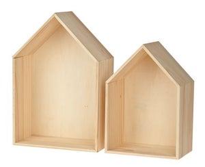 Image of 2 Estanterías casas de madera