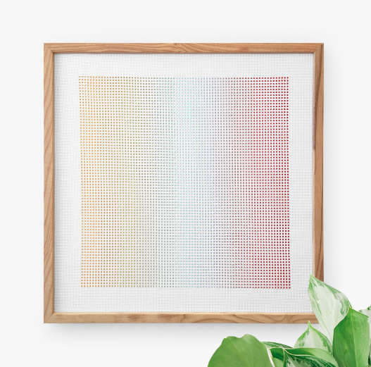 Image of Gradient Cross Stitch PDF Pattern