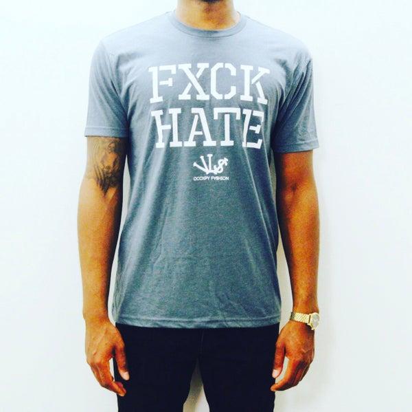 Image of Indigo/White FXCK HATE Tee
