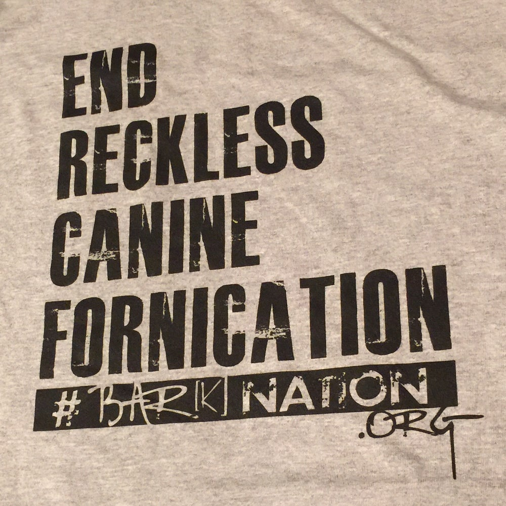 Image of #EndRecklessCanineFornication Tee - New Heather Grey!