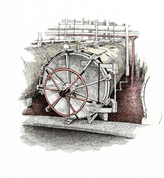 "Image of Salmon Processing Equipment No 2 5"" X 5"""