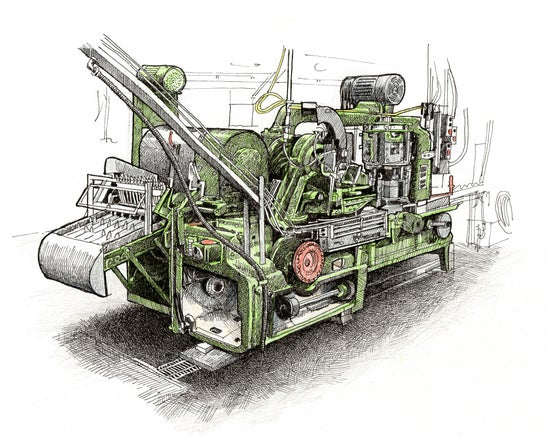 "Image of Salmon Processing Machinery No 3 7"" X 9"""