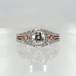 Image of Pink Argyle diamond engagement ring