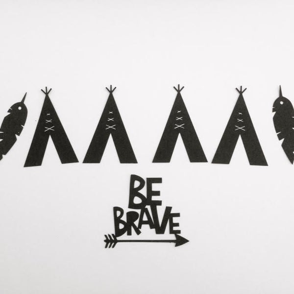 "Image of Tribal Banner and coordinating ""Be Brave"" Cake Topper"