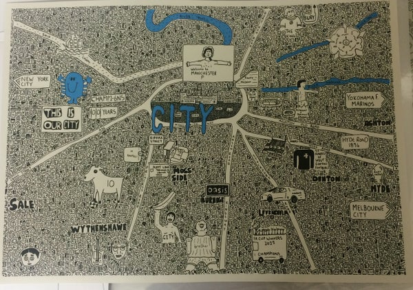 Image of City Doodle Map Prints