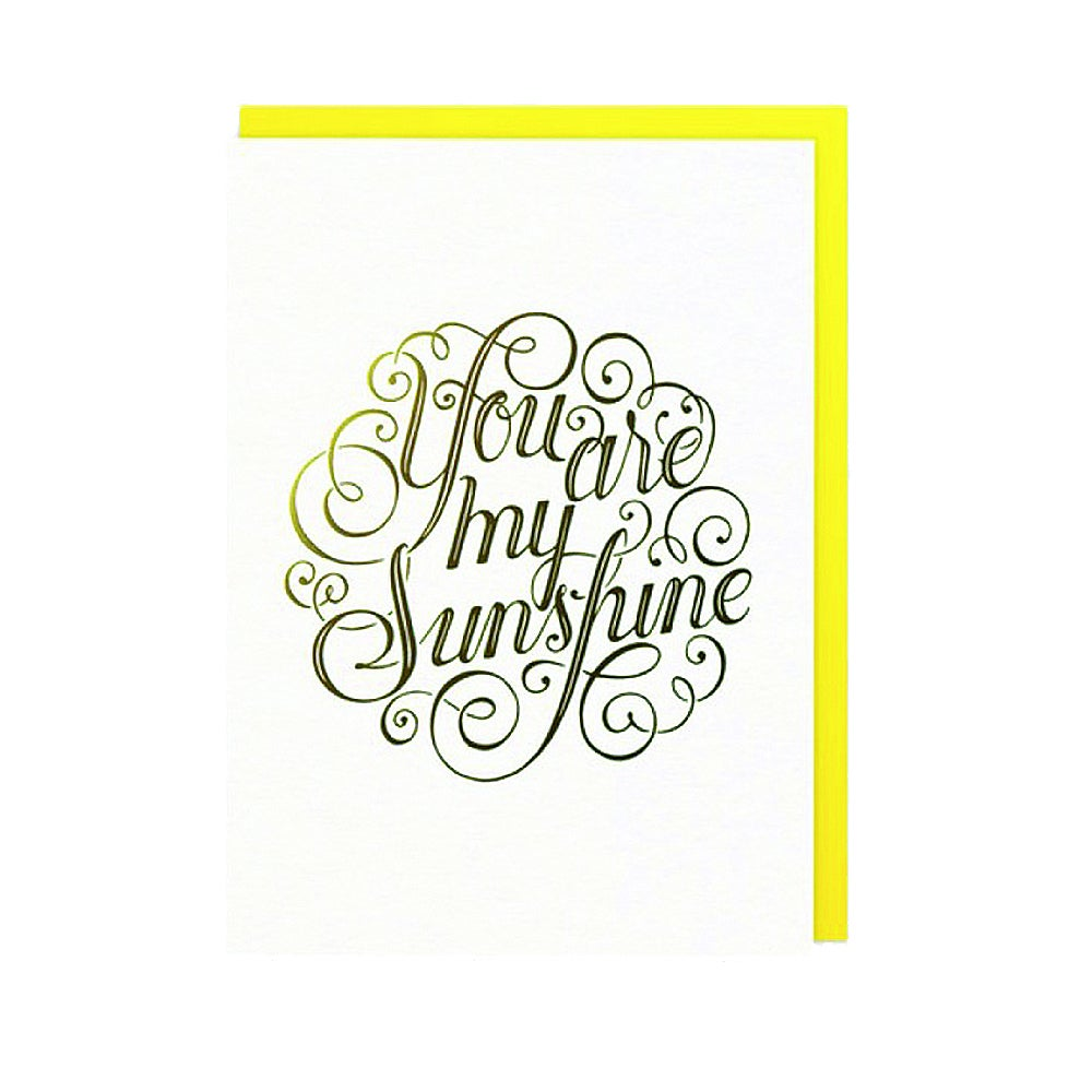 Carte You are my sunshine - Letterpress de Paris