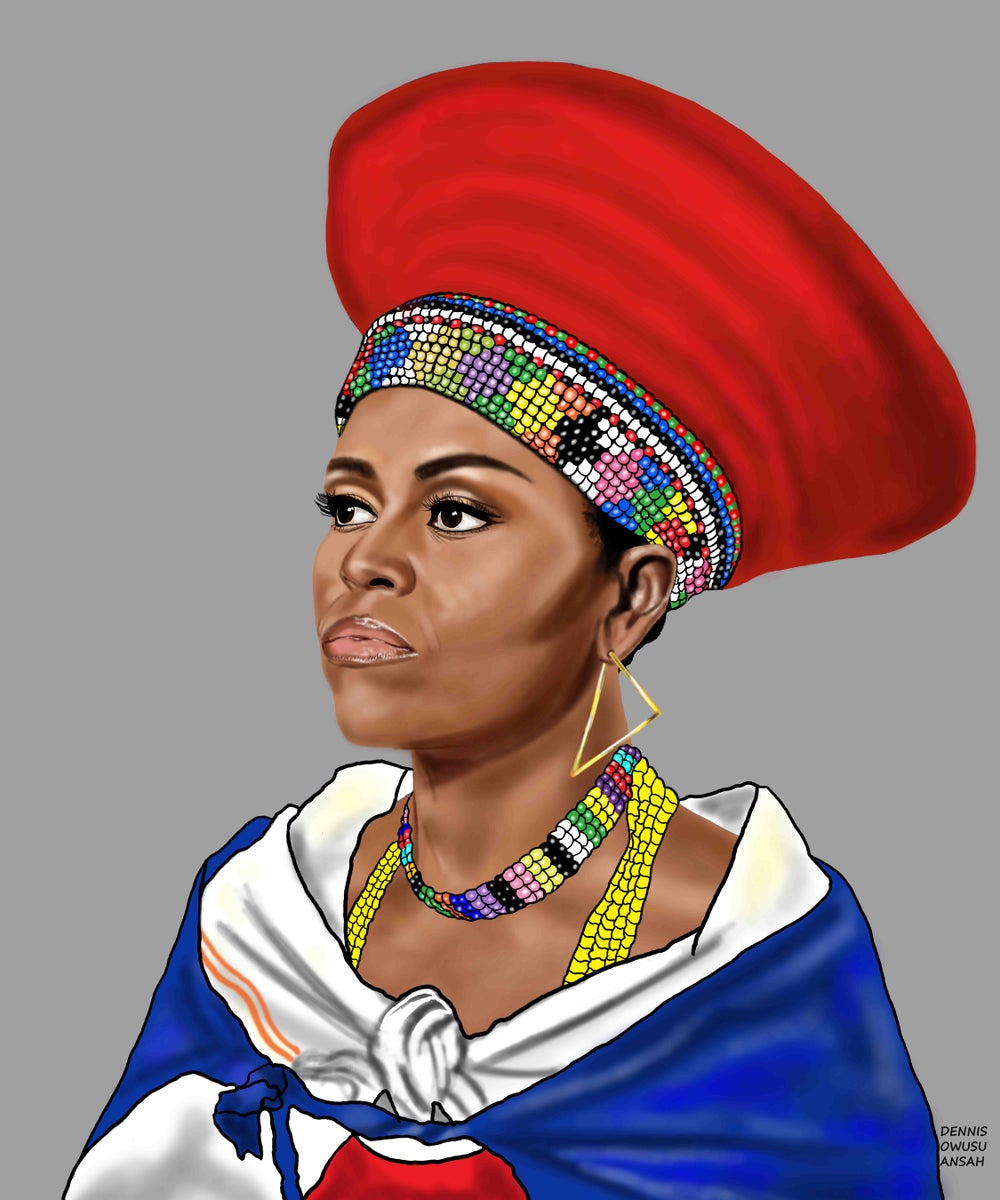 Image of ZULU FLOTUS Stretched Canvas Print 24 x 30