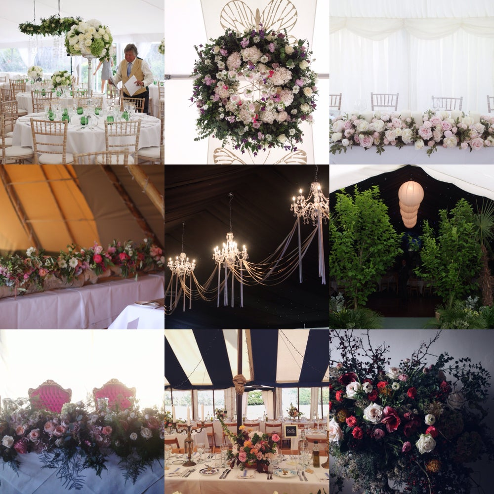 Image of How to decorate a marquee - on location