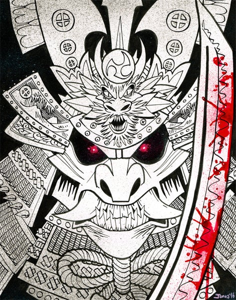 Image of 'Samurai Demon' Original Painting