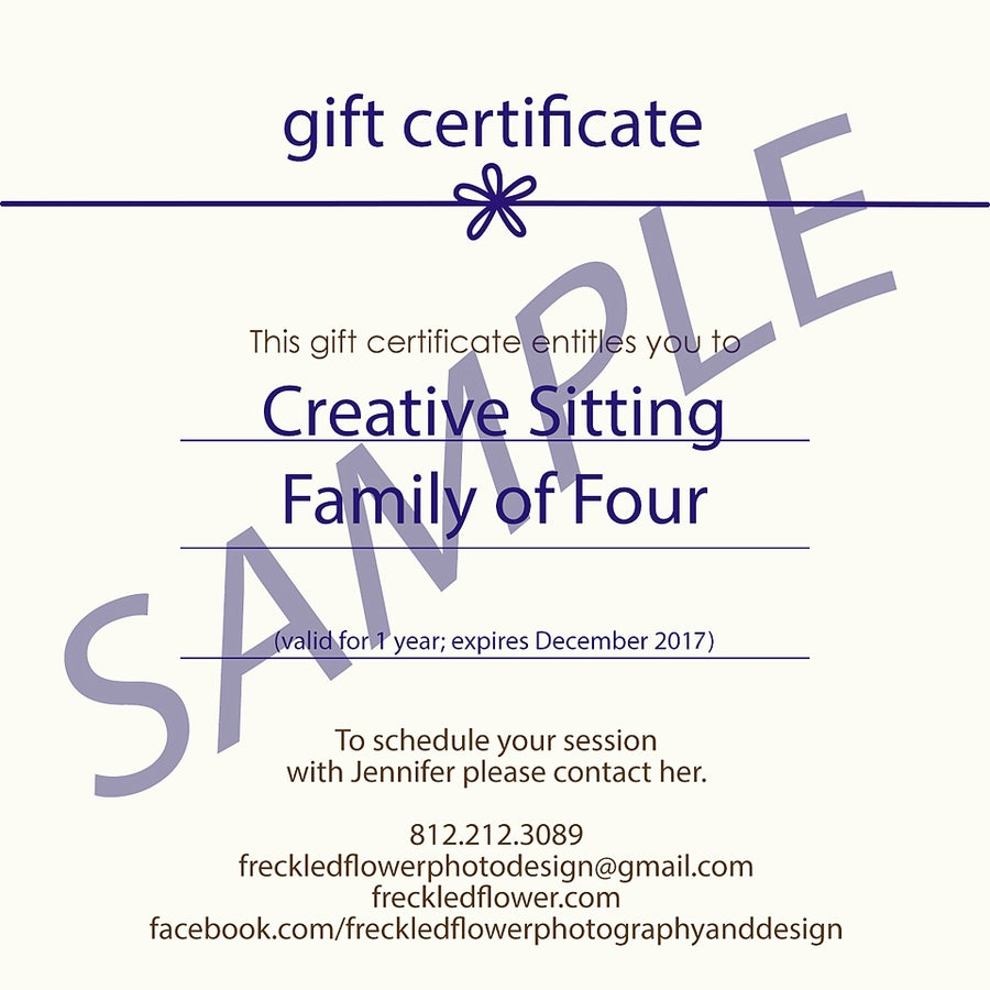 Image of Gift Certificates - Mini-Session