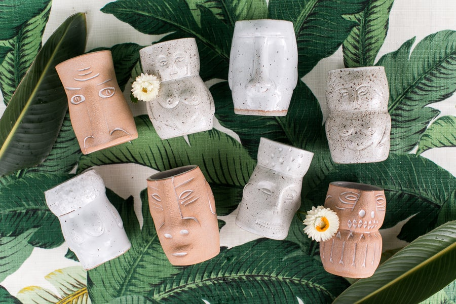 Image of Tiki Cocktail Cups  - Man