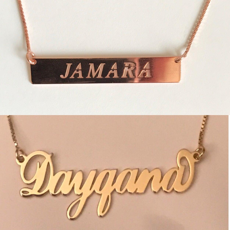 Customized Nameplate Pendants | Lathina Luxe Boutique