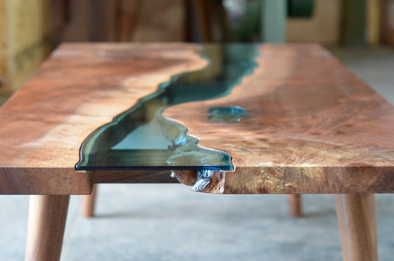 Image of mid-century modern river coffee table