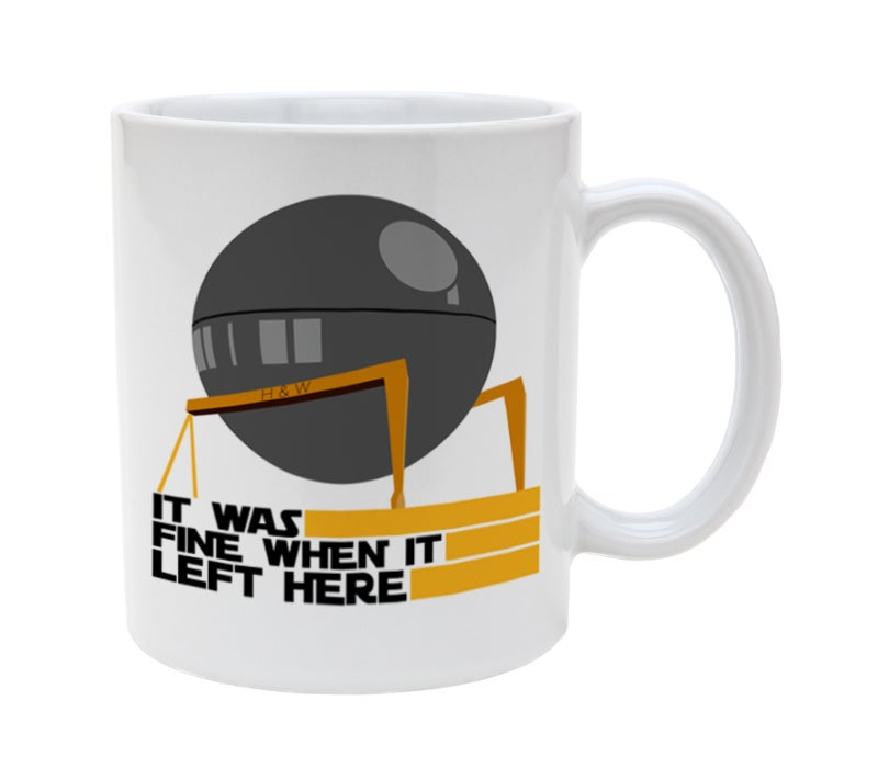 Image of H&W Death Star Construction Mug