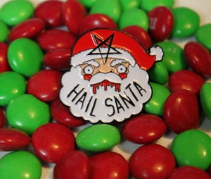 Image of Hail Santa Enamel Pins