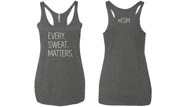 Image of #ESM RACERBACK TANK - WOMEN'S - HEATHER GREY