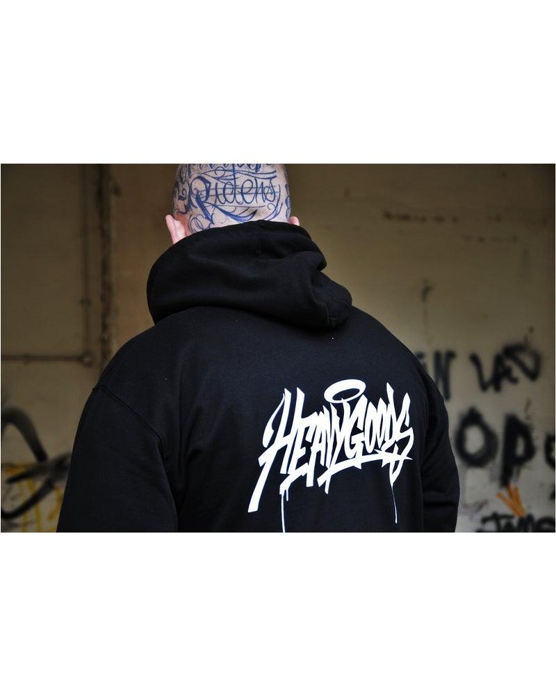 Image of Heavy Goods Taste Handstyle Logo Hoody