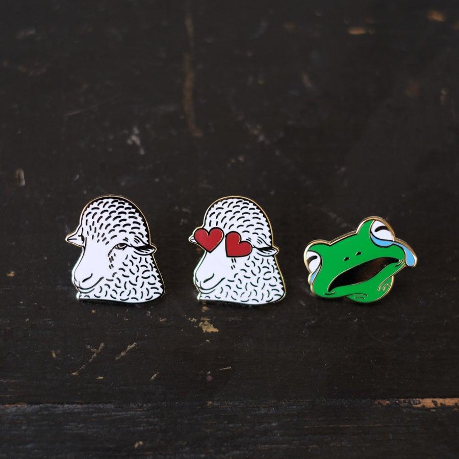Image of Knitmoji enamel pins