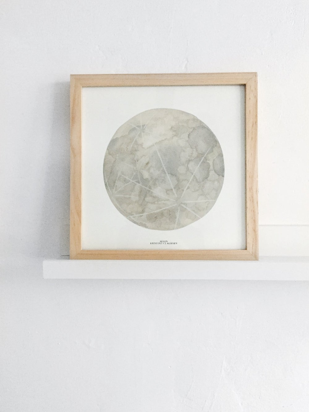 Image of Moon Print - 12 x 12
