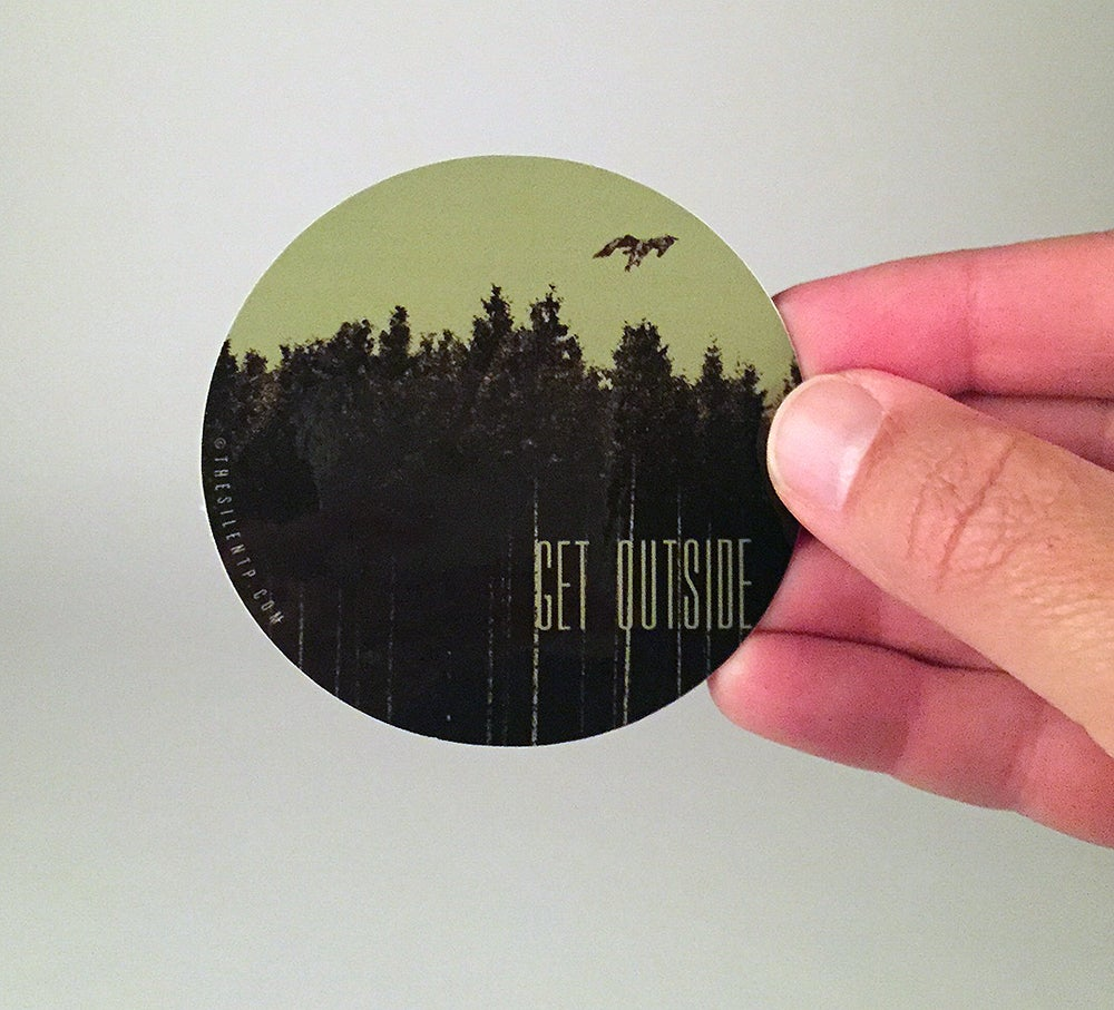 "Image of ""Get Outside"" vinyl sticker"
