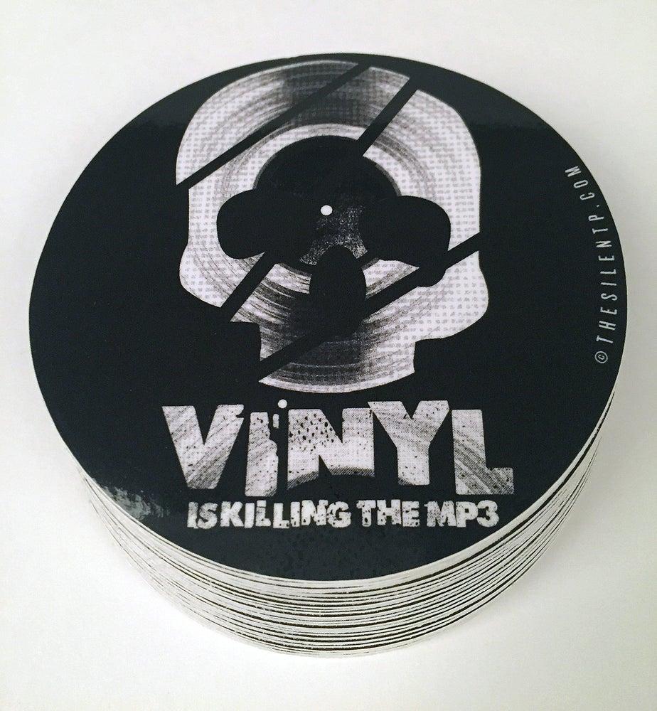 "Image of ""Vinyl is Killing the MP3"" vinyl sticker"