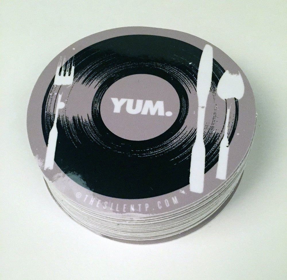 "Image of ""YUM"" vinyl sticker"