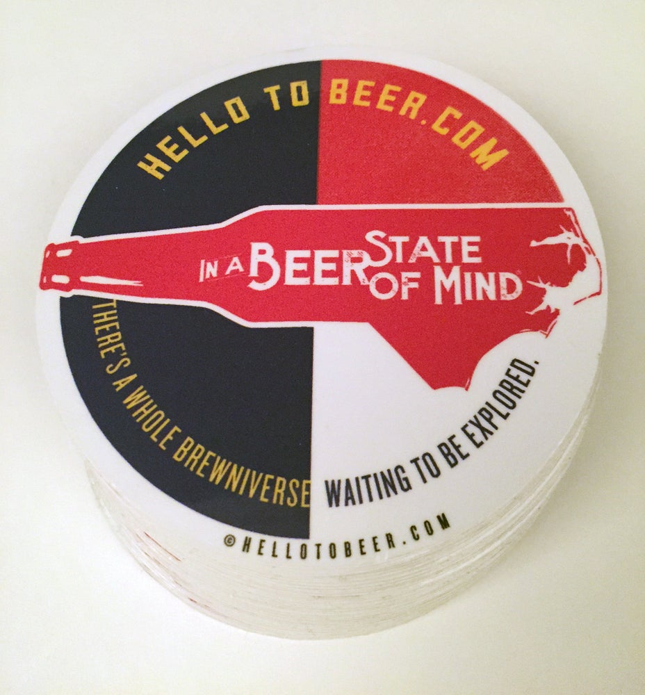 "Image of In a Beer State of Mind 3"" vinyl sticker"