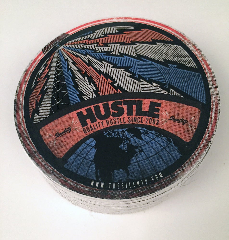 "Image of ""Hustle"" vinyl sticker"