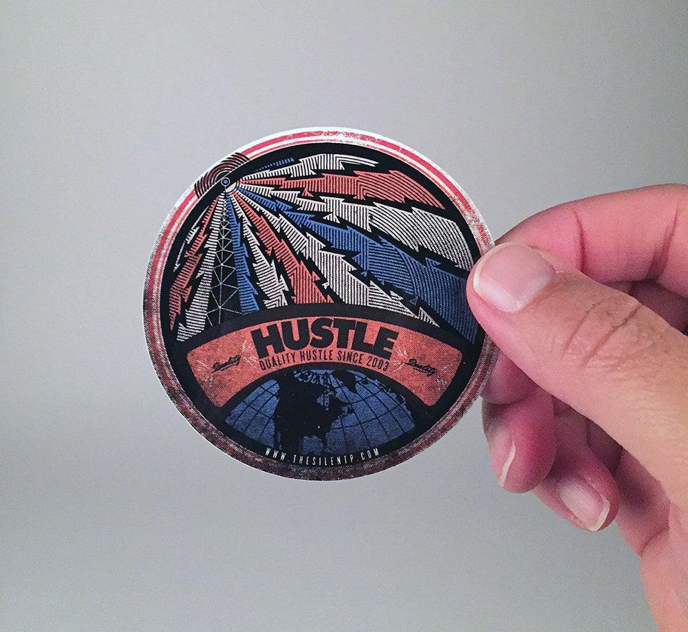 "Image of ""Hustle"" vinyl sticker"
