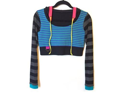 Image of Dance Stripe Crop Hoody