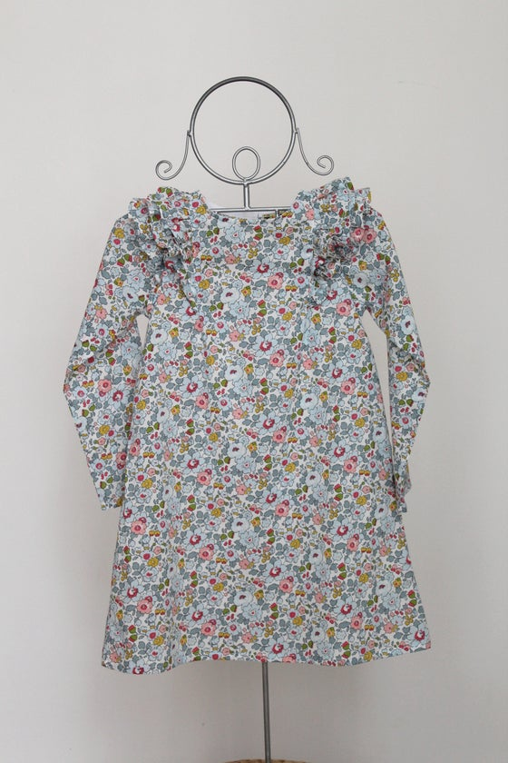 Image of Robe PIVOINE à volants en Liberty