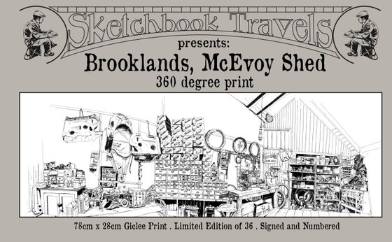 Image of Brooklands McEvoy Shed Sketch Print