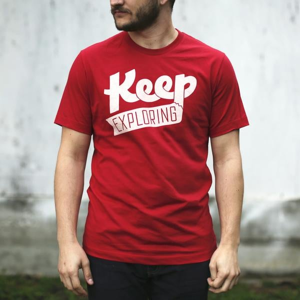 Image of Keep Exploring Logo T-Shirt