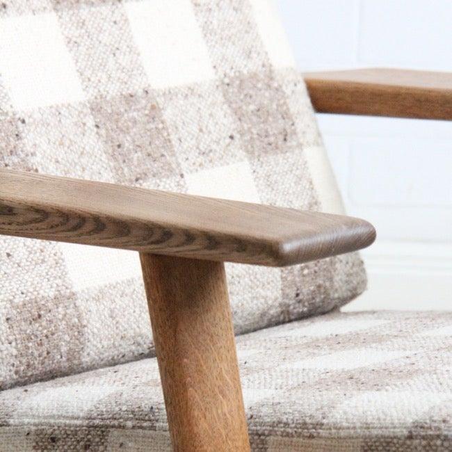 Image of Hans J. Wegner High Back Lounge Chair, Getama Denmark,