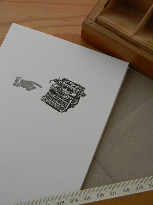 Image of Tarjeta máquina de escribir
