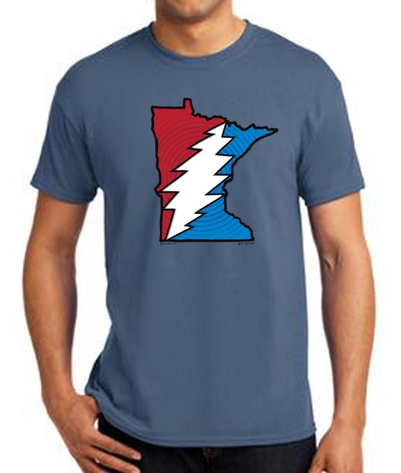 Image of Minnesota Steal Your State T-Shirt - Blue