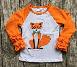 Image of Smart Fox Shirt, baby, toddler, girl, photos, sister sets, cousins