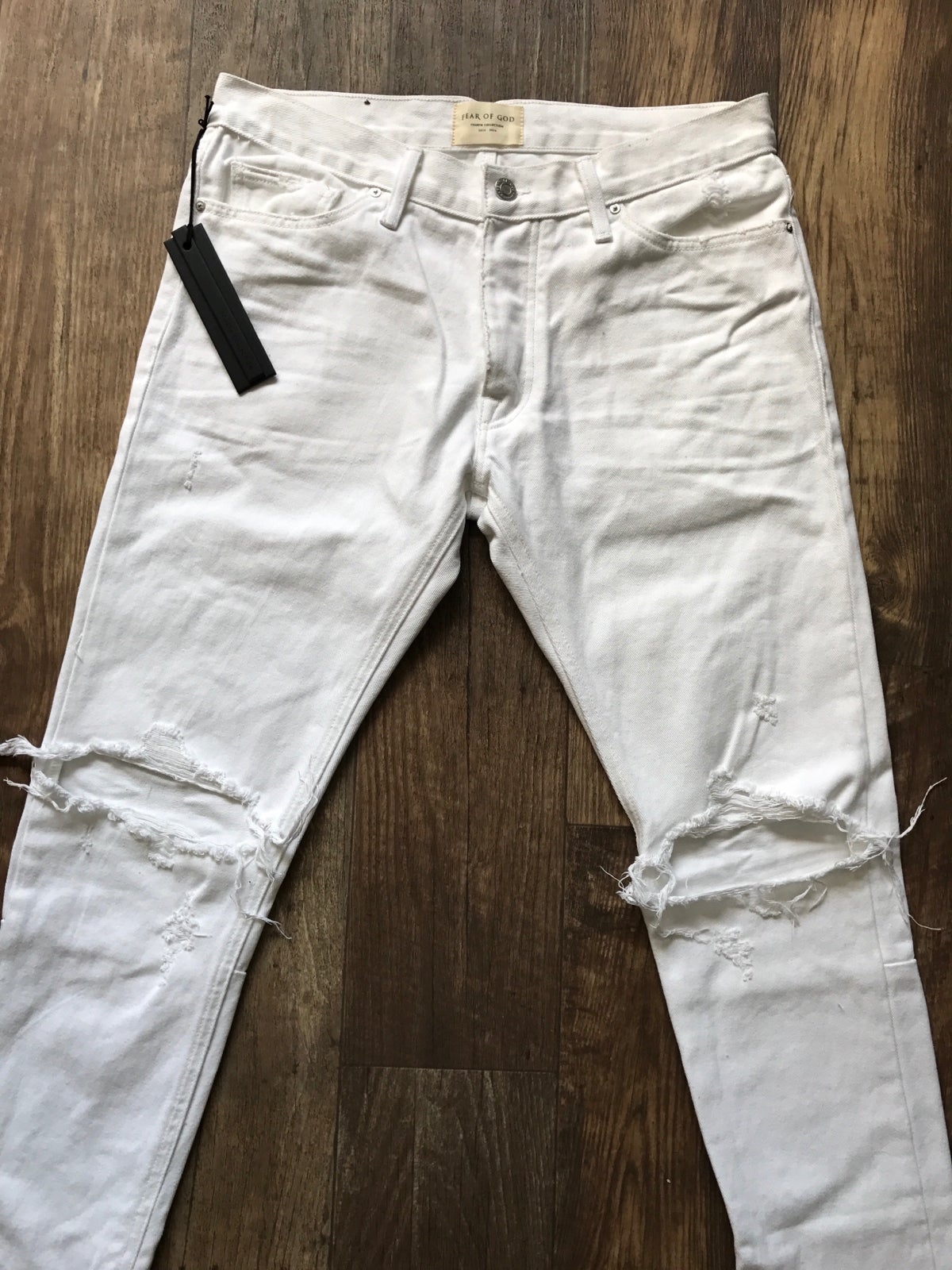 Image of Fear Of God X Maxfield 'White' Bull Denim