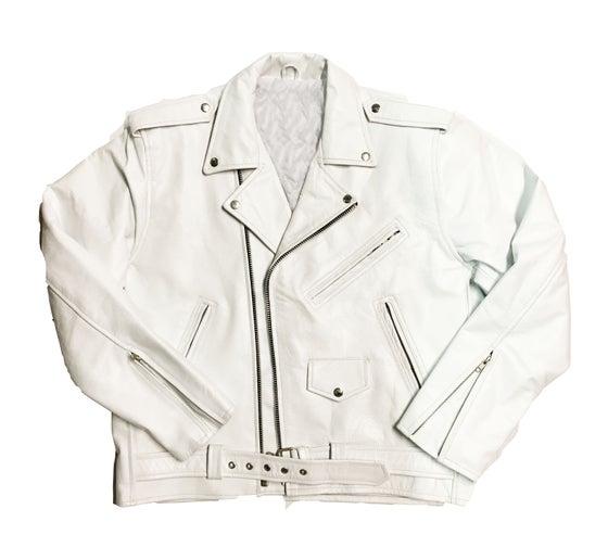 """Image of Rock Hard Vintage Biker Leather """"White"""""""