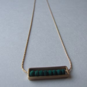 Image of Green Abacus Necklace