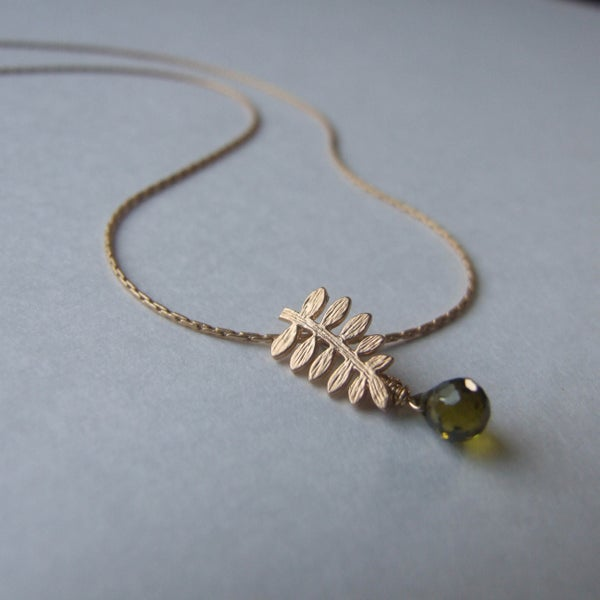 Image of Tiny Fern Necklace