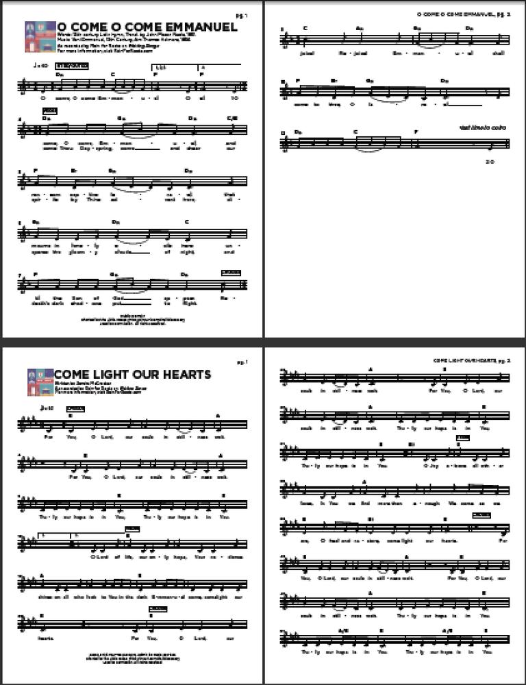 Image of Waiting Songs Digital Songbook & Digital Booklet