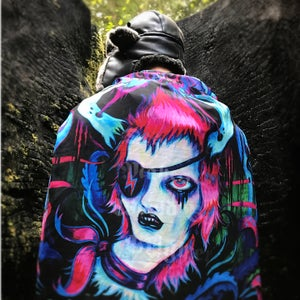 "Image of ""Fade Into The Dark Stars"" Bowie Scarf"