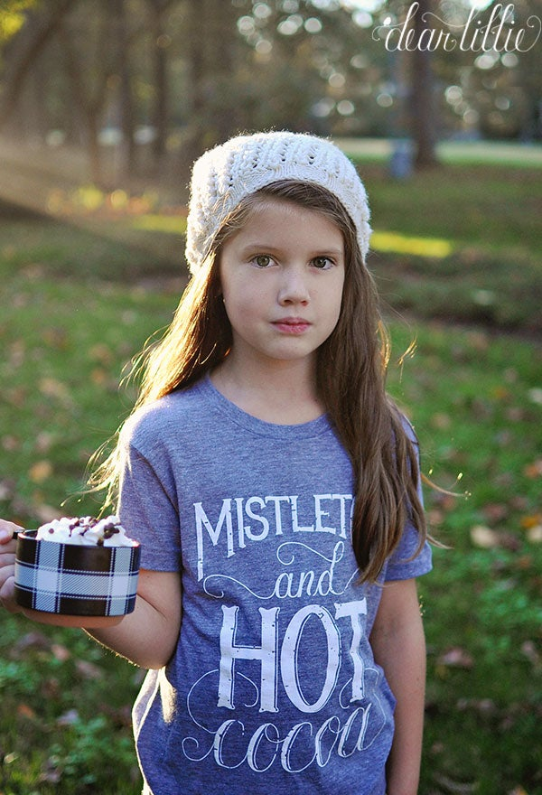 Image of Mistletoe Children's Shirt in Gray
