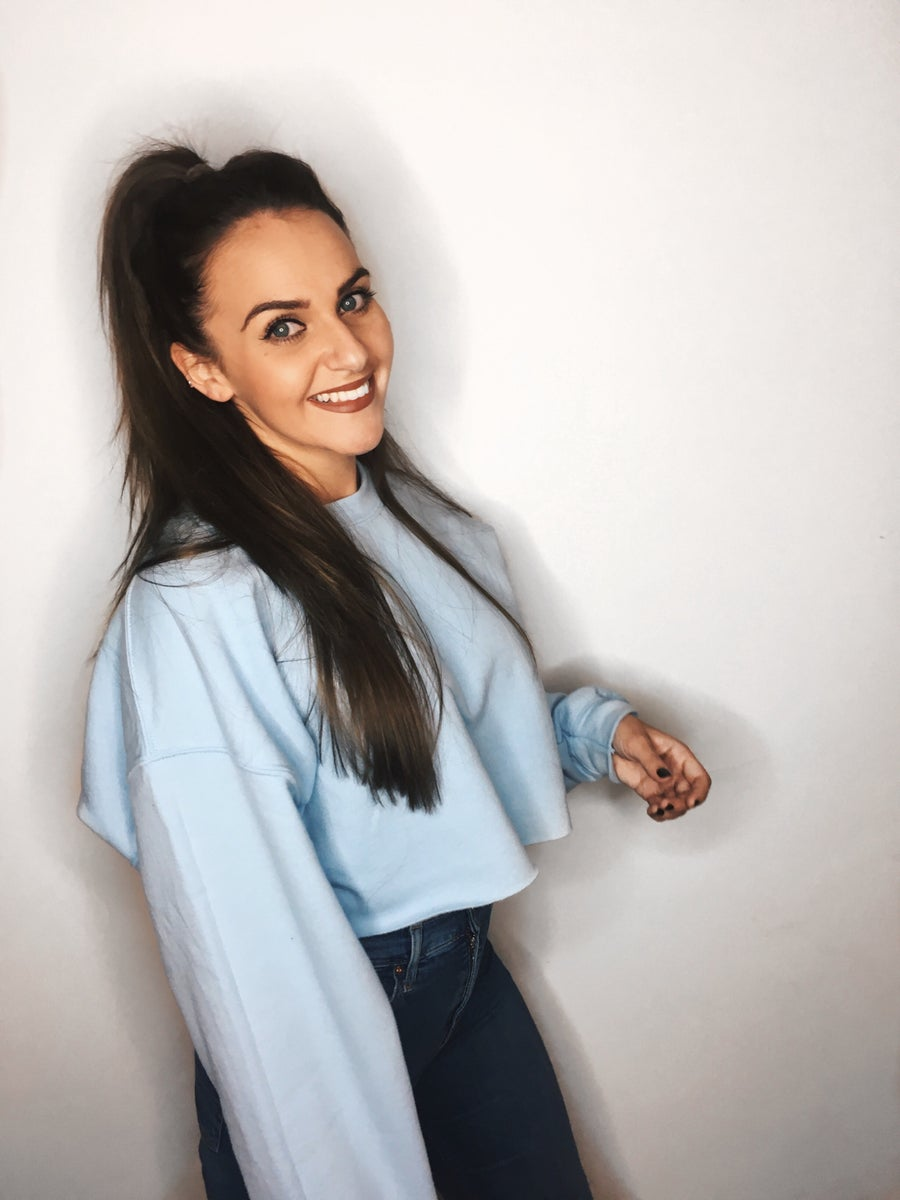 Image of Cropped Baby Blue Sweatshirt